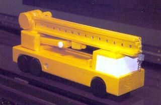 黄色いクレーン車